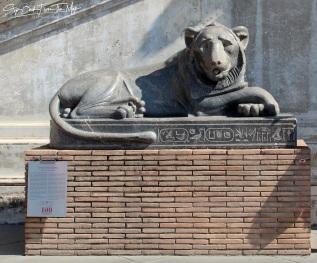 Liūto skulptūra iš Karnako šventyklos