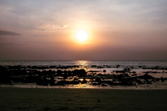 Saulėlydis Koh Lantos paplūdimu